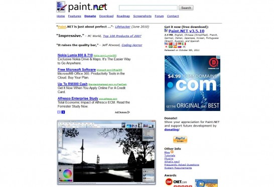 paintnet 546x374 5 Free Photo Editing Software for Windows