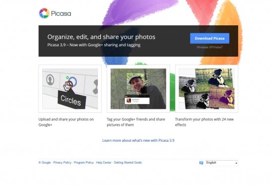 picasa 546x374 5 Free Photo Editing Software for Windows