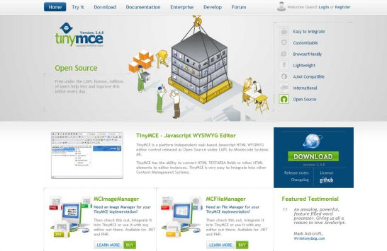 tinymce editor 546x355 8 Most Popular Rich Text Editors for Web Developers