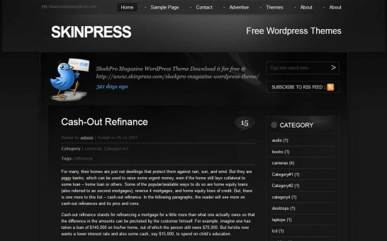 allblack 546x340 47 of the Best Dark and Black Free Wordpress Themes