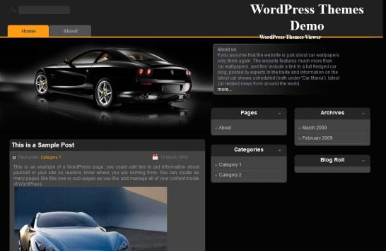 blackcar 546x356 47 of the Best Dark and Black Free Wordpress Themes