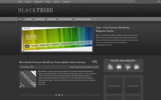 blacktribe 546x338 47 of the Best Dark and Black Free Wordpress Themes