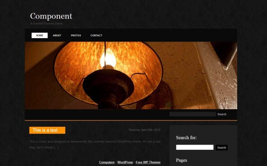component 546x339 47 of the Best Dark and Black Free Wordpress Themes