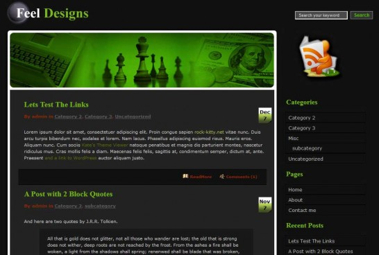 dedicuz blog 546x368 47 of the Best Dark and Black Free Wordpress Themes