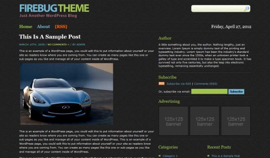 firebug 546x320 47 of the Best Dark and Black Free Wordpress Themes