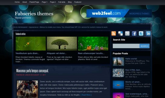 firecrow 546x326 47 of the Best Dark and Black Free Wordpress Themes
