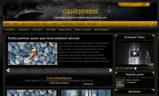 gamerpress 546x331 47 of the Best Dark and Black Free Wordpress Themes