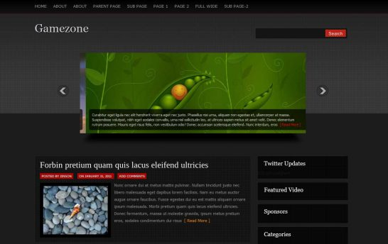 gamezone 546x344 47 of the Best Dark and Black Free Wordpress Themes