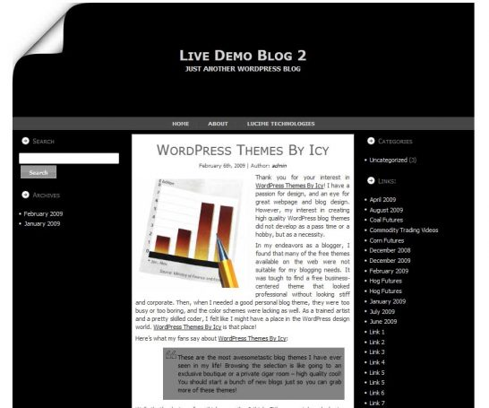 inverse professional 546x455 47 of the Best Dark and Black Free Wordpress Themes