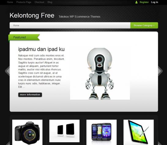 kelontong free 546x474 47 of the Best Dark and Black Free Wordpress Themes