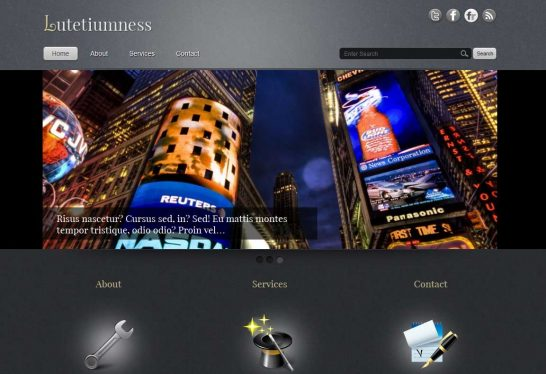 lutetiumness 546x374 47 of the Best Dark and Black Free Wordpress Themes