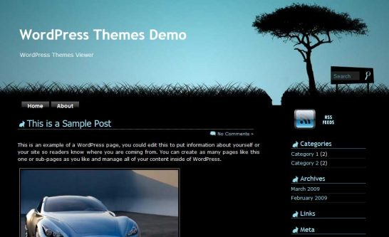 rabbit hole 546x333 47 of the Best Dark and Black Free Wordpress Themes