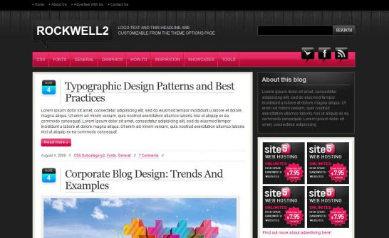 rockwell 546x335 47 of the Best Dark and Black Free Wordpress Themes