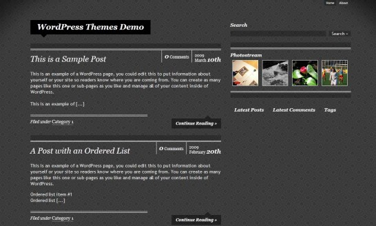 simplyornate 546x328 47 of the Best Dark and Black Free Wordpress Themes