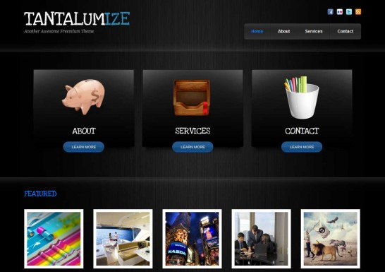 tantalumize 546x385 47 of the Best Dark and Black Free Wordpress Themes