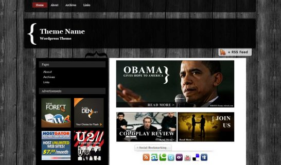 woodmag 546x321 47 of the Best Dark and Black Free Wordpress Themes