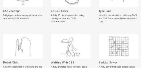 css3 andrew hoyer experiments 546x264 40 Most Inspiring CSS3 Animation Tutorials and Demos