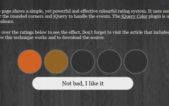 css3 colourful rating system 546x344 40 Most Inspiring CSS3 Animation Tutorials and Demos