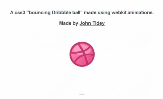 css3 dribble bouncing ball 546x332 40 Most Inspiring CSS3 Animation Tutorials and Demos