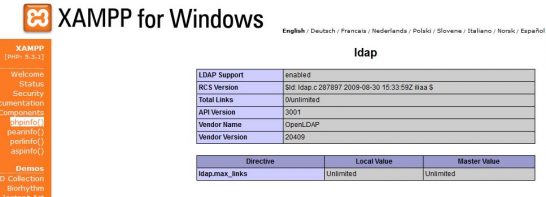 php ldap 05 546x197 Enable PHP LDAP Module in XAMPP