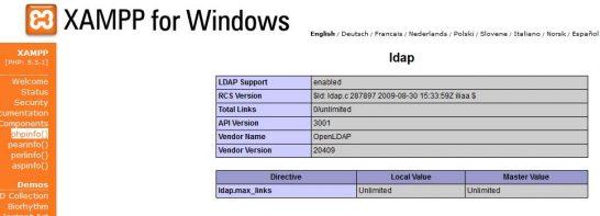 php ldap 05 546x197 Habilitar PHP Módulo LDAP en XAMPP