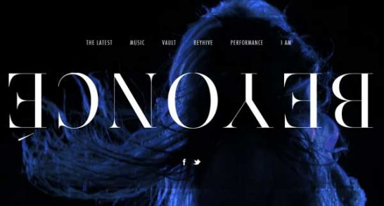 beyonce 546x293 Weekly Inspiration and Web Design Resource no.22, 23 and 24