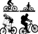 Mountain Cycling Vector Free download