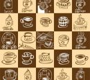 Lovely coffee theme vector Free download