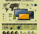 Data Report Info graphics Free Vector