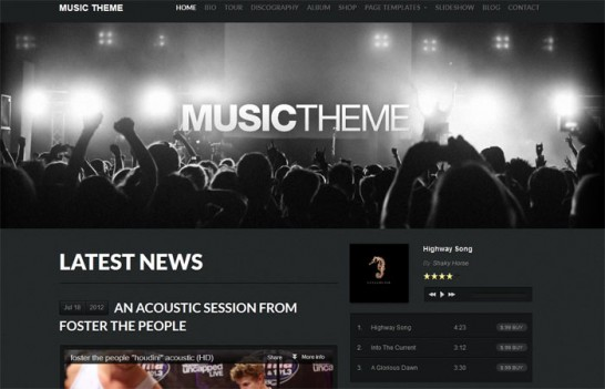 music theme 546x351 10 High Quality Premium WordPress Themes