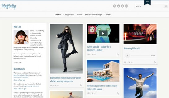 pinfinity theme 546x315 10 High Quality Premium WordPress Themes