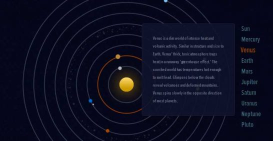 css3 our solar system 546x282 Another 43 Most Inspiring CSS3 Animation Tutorials and Demos