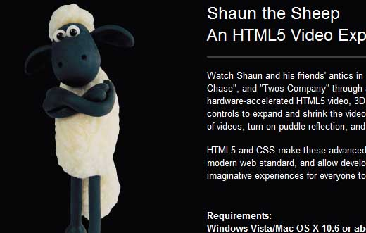 css3 shaun the sheep Another 43 Most Inspiring CSS3 Animation Tutorials and Demos