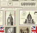 Free Vector London and Paris, a Symbol of Stamps
