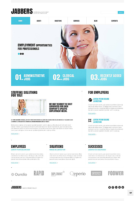 Recruiting Company WordPress Theme