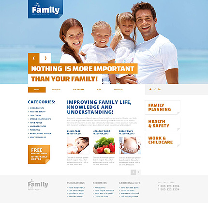 Happy Family WordPress Theme