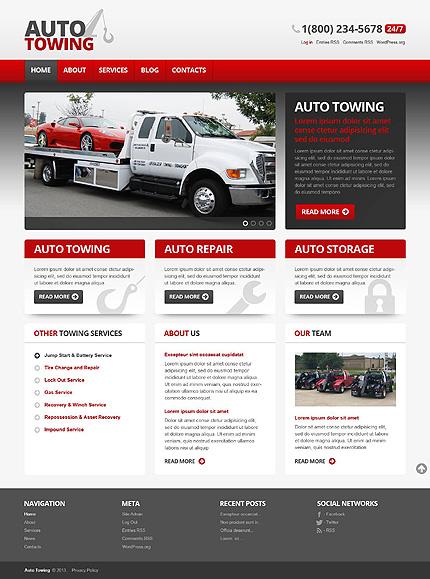 Auto-Towing Car Repair WordPress Theme