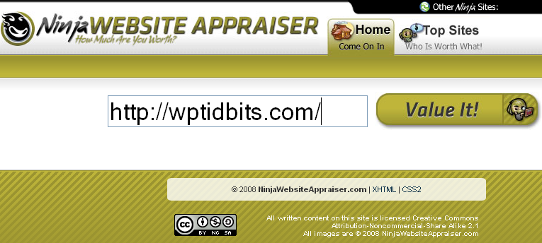 ninjawebsiteappraiser
