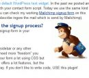 Mailchimp Signup Form for WordPress