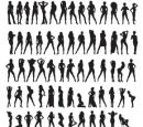 Sexy Girls silhouettes vector
