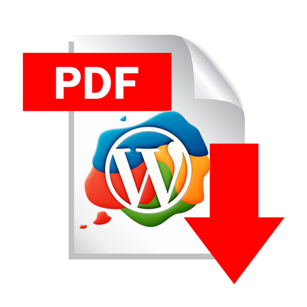 Pdf file download icon, vector illustration